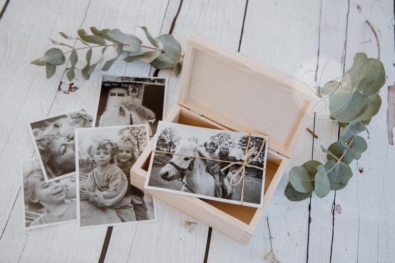 kl Fotobox met prints.